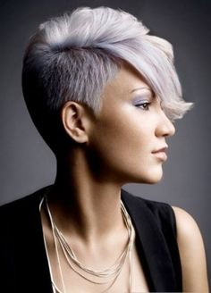 short back and sides long on top women