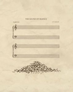 The sound of silence ;-)