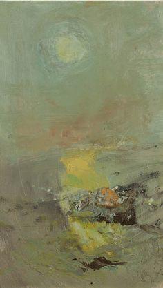 JOAN EARDLEY  -  The Sun and the Sea, Oil on board, Signed and dated '63' (verso), 19 x 11 ins. Skotlannissa 1921-1963 elänyt maalari. Tämä on yksi viimeisistä maalauksista.