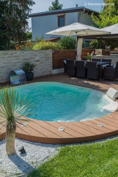Waterair mini pool - Ideen terrace- Mini piscine Waterair – Terrasse ideen Waterair mini pool The mini pool: ideal for all gardens! pool The post Waterair mini pool appeared first on Terrasse ideen. Swimming Pool Pictures, Small Swimming Pools, Small Pools, Swimming Pools Backyard, Swimming Pool Designs, Pool Decks, Lap Pools, Indoor Pools, Backyard Pool Landscaping