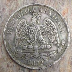 1872-Mexican-Silver-Coin-UN-PESO-MoM-902-7-NO-RESERVE