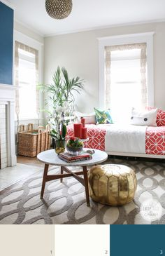Inspired by Charm Paint Colors: Shoji White by Sherwin-Williams (walls)
