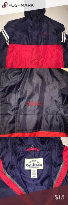 Kids OshKosh zip jacket Size 14/16 Large Kids OshKosh zip jacket that's in great condition (Can't tell that's it's been worn). Great for a cooler/ rainy day. Size 14/16 Large Osh Kosh Jackets & Coats
