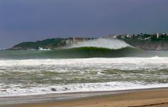 Big wave breaking in Puerto Escondido, Mexico. Often referred to as the Mexican Pipeline. Surf News, Big Waves, Surfs Up, Pacific Ocean, Waterfall, Surfing, Places To Visit, Around The Worlds, California