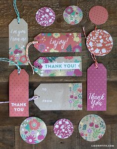 Spring Gift Wrap and Tags Everyday Spring Gift Wrap and Tags - Lia GriffithEveryday Spring Gift Wrap and Tags - Lia Griffith Card Tags, Gift Tags, Gift Labels, Pretty Packaging, Paper Cards, Craft Gifts, Jw Gifts, Holiday Cards, Gift Wrapping