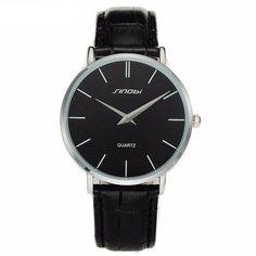 97505aa66f9 Super slim Quartz Casual Wristwatch Business JAPAN SINOBI Brand Leather  Analog Quartz Watch Men s Fashion 2017 - www.