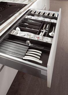 besteckeinsatz einbauküche hochglanz weiß norina 9555