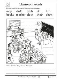 Classroom words - Worksheets & Activities | GreatSchools