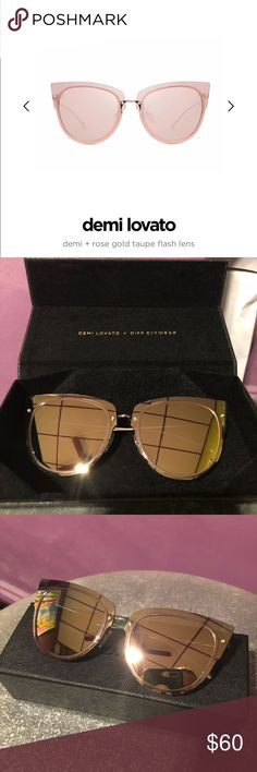 c2d5c56a8ab DIFF Eyewear - Demi Lovato These sunglasses are a brand called DIFF that  sends a new