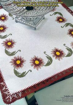 PONTO CRUZ DA LZ: toalha de mesa