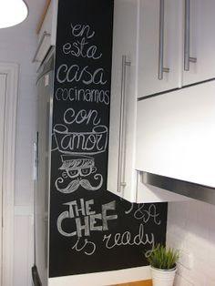 DIY: Crear una pared-pizarra con pintura en spray | Handbox Craft Lovers | Comunidad DIY, Tutoriales DIY, Kits DIY