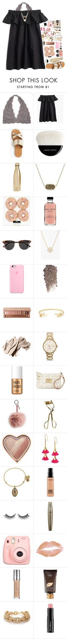 """take me to paris"" by kate-elizabethh ❤ liked on Polyvore featuring J.Crew, Giorgio Armani, S'well, Kendra Scott, Bobbi Brown Cosmetics, H&M, Urban Decay, Sole Society, Kate Spade and Benefit"