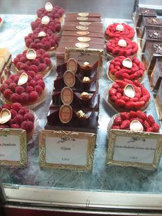 Laduree pastry case