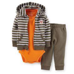 3-Piece Hooded Cardigan Set