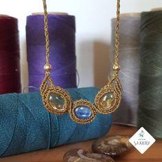 """19/"""" Perle Blanche Bleu Larimar Cristal Collier"""
