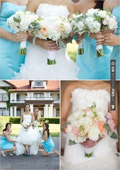 white bouquets   VIA #WEDDINGPINS.NET