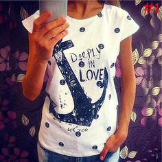 0d59a2010e5 Click to Buy    HQ 2017 Brand New Anchor Letter Printed Casual Loose.