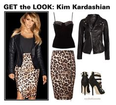 """""""Get the Look: Kim Kardashian"""" by nycfashionista ❤ liked on Polyvore featuring mode, Lipsy, SELECTED, Sally&Circle en Jimmy Choo"""