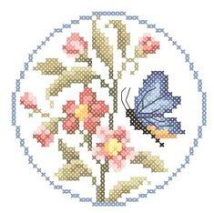Бабочка и цветы