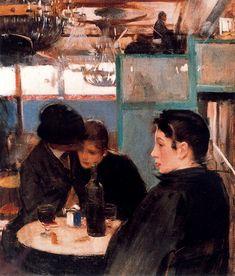 Ramon Casas i Carbó (1866-1932, Barcelona): Café de Paris