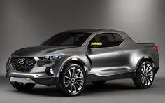 Apresentado em 2015, o protótipo Hyundai Santa Cruz é considerado