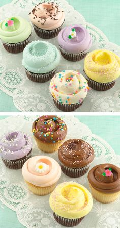 I WANT TO MAKE CUPCAKES THAT LOOK THIS PRETTY. Magnolia Bakery Cupcakes