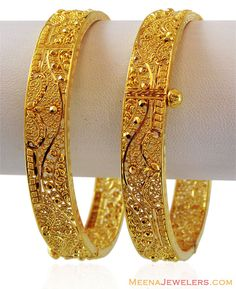 Handmade Filigree Gold Kada (1PC)