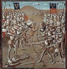 Battle of Crecy, Bibliotheque de l'Arsenal, Paris