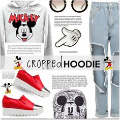 How To Wear Cropped Hoodie! Outfit Idea 2017 - Fashion Trends Ready To Wear For Plus Size, Curvy Women Over 20, 30, 40, 50