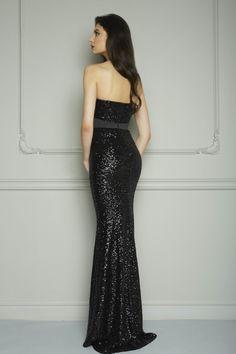 Aliexpress.com: Comprar Negro elegante de noche largo vestidos 2015 de novia sin…