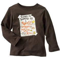 Jumping Beans Thanksgiving Graphic Tee - Toddler (91.280 IDR) ❤ liked on Polyvore featuring baby and toddler boy