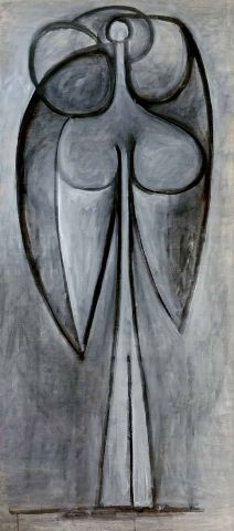 @Gagosian 980 Madison - PABLO PICASSO La femme-fleur (Françoise Gilot), June 1946 Oil on canvas 68 1/2 x 26 inches (174 x 66 cm) Private Collection © 2012 Estate of Pablo Picasso/Artists Rights Society (ARS), New York