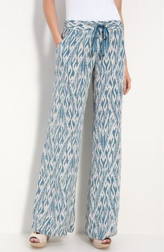 Free shipping and returns on Joie 'Aryn' Ikat Silk Wide Leg Pants at Nordstrom.com. Bold ikat patterns a pair of breezy, wide-leg silk pants styled with a jet-setting lifestyle in mind.