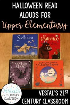 Looking for fun Halloween classroom ideas? Halloween read alouds are a great way to celebrate Halloween and still cover the standards. Here are some of my favorite Halloween read alouds for upper elementary and ways you can use them in your classroom! #vestals21stcenturyclassroom #halloweenreadalouds #halloweenreadaloudsforupperelementary #halloweenactivities #besthalloweenactivities