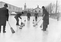 curling's come a long way.... it started in the 1500's on the lochs of Scotland.. this is from the early 1900's. notice the corn brooms