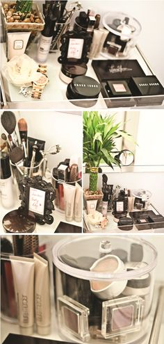 65 + Trendy Ideas Make-up-Sammlung Organisation klein - Christmas Deesserts Hanging Makeup Organizer, Vanity Organization, Organisation Ideas, Makeup Tips, Beauty Makeup, Rangement Makeup, Desks For Small Spaces, Make Up Storage, Storage Ideas