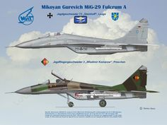 Mikoyan Gurevich, Mig-29 Fulgrum A -  www.flugzeugkunst.eu