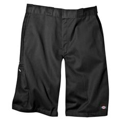 Dickies Men's Big & Tall Loose Fit Twill 13 Multi-Pocket Work Shorts- Black 44
