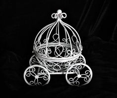 Princess Cinderella carriage centerpiece  Fairy by thealteredchick, $34.50