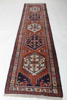 Maison de ventes aux enchères en ligne Catawiki: Tabriz Persian rug Ardebil runner art deco patterns, Made in Iran around 1980, Excellent 300X75cm