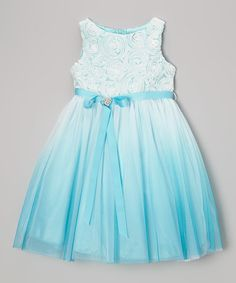 Sale $38.99 Reg. $100.00  Blue Heart Sash Dress - Toddler & Girls