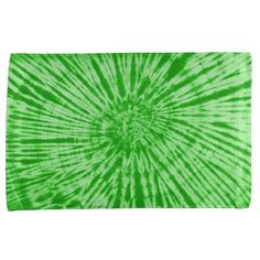 Green Tie Dye All Over Sport Towel