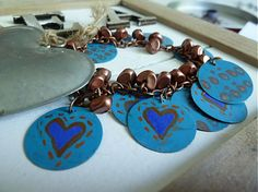 Tyrkysový so srdiečkami / Martinuska - SAShE. Handmade Bracelets, Heart Charm, Ale, Charmed, Jewelry, Jewlery, Jewerly, Ale Beer, Schmuck