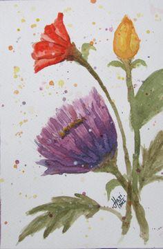 Harinarayan Sreenivasan Watercolor Painting. Wildlife/Botaical, Fantasy, Nature Art - Summer Morning