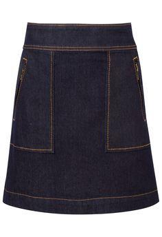 cdb6c678c3 Saia jeans bolso pesponto - azul na  oqvestir Skirt Pants