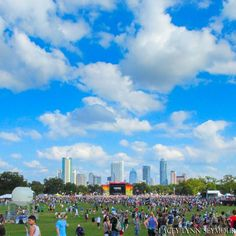 """Wide open Texas blue sky at Austin City Limits Festival #ACL (Photo by Lacey Lynn Seymour"""""""