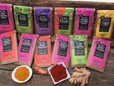Inspired by a quick-cooking Australian spice packet, Karen Paly brought the concept to the US and started her own home-made brand, Karen's Spice Kitchen. Chicken Chickpea, Chickpea Curry, Lamb Korma, Thai Chicken Satay, Curry In A Hurry, Mango Curry, Rogan Josh, Mediterranean Spices, Curry Shrimp