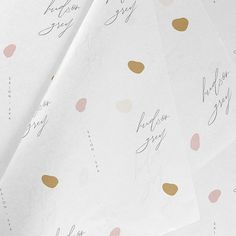 A super cute tissue paper design for Hudson Grey. I love working on this brand it's just super pretty! Collateral Design, Branding Design, Logo Design, Graphic Design, Ecommerce Packaging, Custom Tissue Paper, Paper Logo, Pretty Packaging, Packaging Ideas