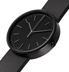 Uniform Wares Precidrive Pvd-coated Stainless Steel And Rubber Watch In Black Uniform Wares, Nitrile Rubber, Museum Of Modern Art, All Black, Stainless Steel, Mens Fashion, Watches, Leather, How To Wear