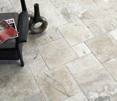 Travertine Tile Flooring Chiseled Edge